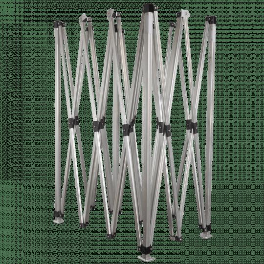 3x4,5m méretű alumínium szerkezet