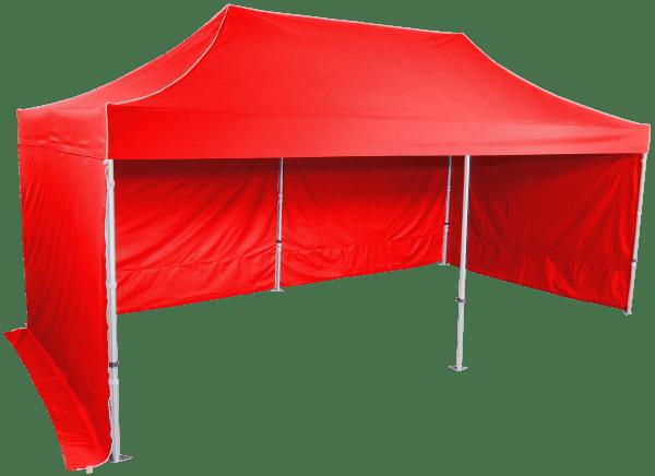 Gyorsan összecsukható sátor 3x6 m - hexagonális alumínium